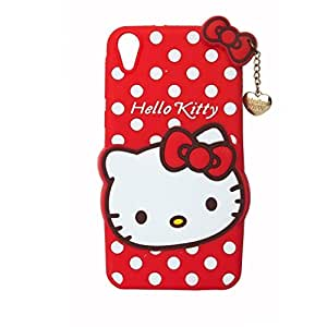 CLASSICO Hello Kitty 3D Embossed Designer Soft Back Case Cover With Golden Pendant For Samsung Galaxy Grand i9060/i9082 (Red)
