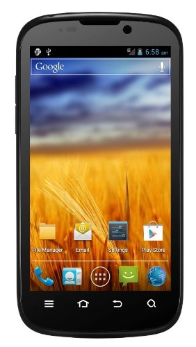ZTE Grand X IN (10,9 cm (4,3 Zoll) TFT Touchscreen-Display, 8 Megapixel Camera,Intel Atom 1,6GHz Prozessor, FullHD Camera) schwarz
