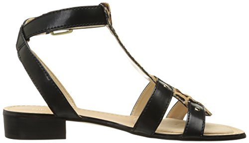 Nove in pelle occidentale Yippee Dress Sandal Black/Natural Multi