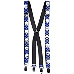 armardi a Tirantes Calaveras en Ajedrez patrón azul