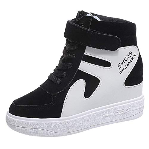 Damenschuhe Versteckte Keilabsatz 7cm Fashion Sneakers Trainer Sport Booties Stiefeletten High Top Plateauschuh Casual (Gucci High-top-sneakers)