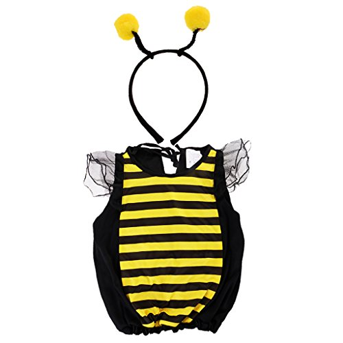 Gazechimp Bienen Kostüm Set Kinder - S