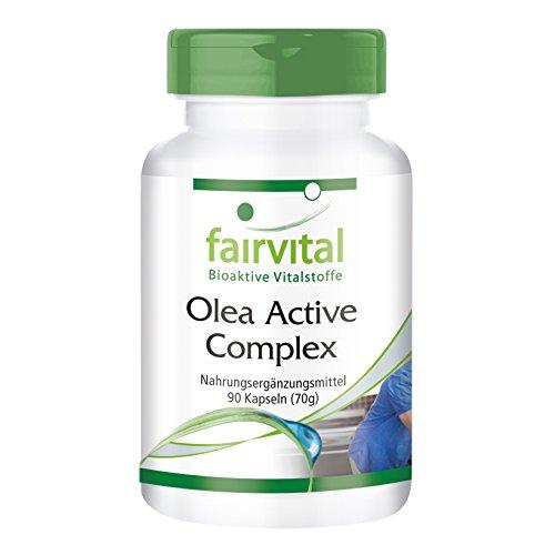 Olea Active Complex - VEGAN - 90 Kapseln - Kombination aus B-Vitaminen, Folsäure, Olivenblatt, Schisandra, Granatapfel und OPC