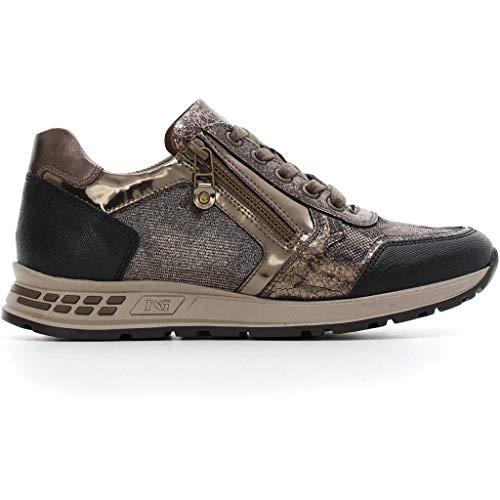 6ddc594f2076c Nero Giardini Donna Sneakers A806422D Bronzo Scarpe in Pelle Autunno  Inverno 2019