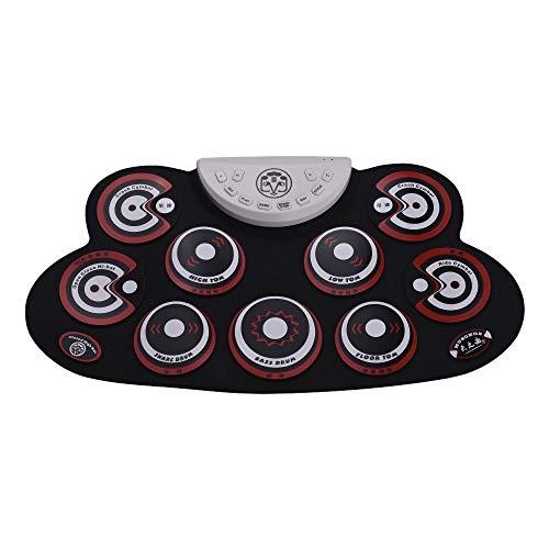 Neues Instrument 1pcs Roll-Up Drum Kit, Elektronische Faltbare Digital Drum Set Mit Drumsticks Pad USB-Kabel für Kinder Anfänger / ProfessionalsColor: Schwarz + Gelb, Schwarz + Rot, optional) Outdoor-