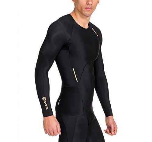 Skins Herren A400 Top Long Sleeve Black