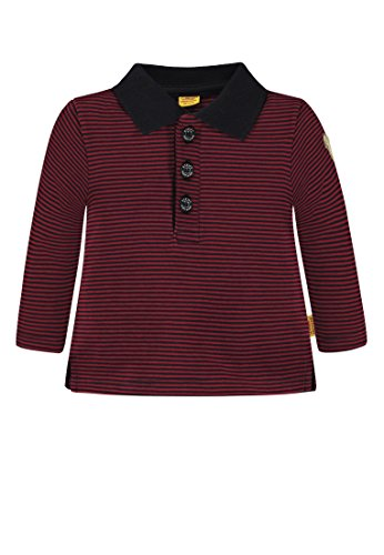 Steiff Steiff Baby - Jungen Poloshirt 1/1 Arm Poloshirt, per Pack Mehrfarbig (y/d Stripe|Multicolored 0001), 56 (Herstellergröße: 56)