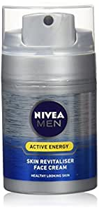 Nivea Men's Active Energy Skin Revitaliser Face Cream, 50 ml - Pack of 2