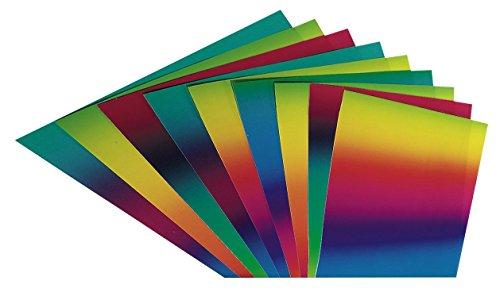 22x32 cm bunt Folia 765 Regenbogenpapier 100g//m² 10 Bogen