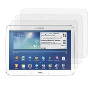 3x kwmobile Folie für Samsung Galaxy Tab 3 10.1 - klare Tablet Displayschutzfolie Crystal Clear Displayschutz kristallklar Displayfolie Schutzfolie