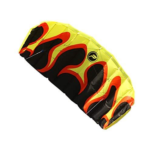 Lenkmatte - Paraflex Basic 1.7 Flame - für leichten bis kräftigen Wind - Spannweite: 170cm, Fläche: 1m² - inkl. Steuerleinen mit Handschlaufen