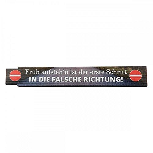 yvolve Zollstock - Früh aufsteh`n/Falsche Richtung - Geschenkartikel | Metermaß | 2m Lang