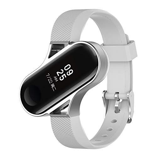 and für Xiaomi Mi Band 3 Silikon Armband mit Metallrahmen, Einstellbar Silikon Armband mit Leicht und Langlebig Sport Armbandm, Replacement für Damen Herren (A) ()