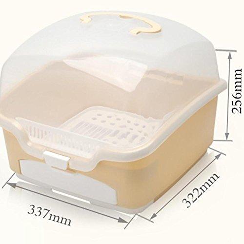 XISHU Baby Flasche Aufbewahrungsbox Tragbar Mit kleiner Schublade Staubschutzhaube Drain Rack
