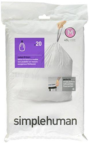 simplehuman-code-k-plastic-custom-fit-bin-liner-pack-of-60-white