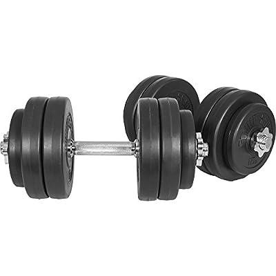 GORILLA SPORTS Kurzhanteln 2er Set Kunststoff 20kg / 30kg – Hantelstangen, Gewichte und Sternverschlüsse gerändelt 30/31mm von GORILLA SPORTS