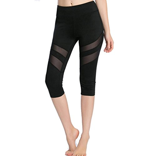 HARRYSTORE Casual Leggings Mujeres Delgadas De Malla De Patchwork Yoga