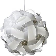 pantalla de lámpara blanca colgante DIY lámpara de techo Dormitorio de la lámpara plana auto montaje no incluido Buld y cable