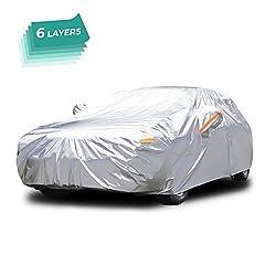 SOFTGARAGE 5-lagig lichtgrau Premium Indoor Outdoor atmungsaktiv wasserabweisend Car Cover Vollgarage Ganzgarage Autoplane Autoabdeckung