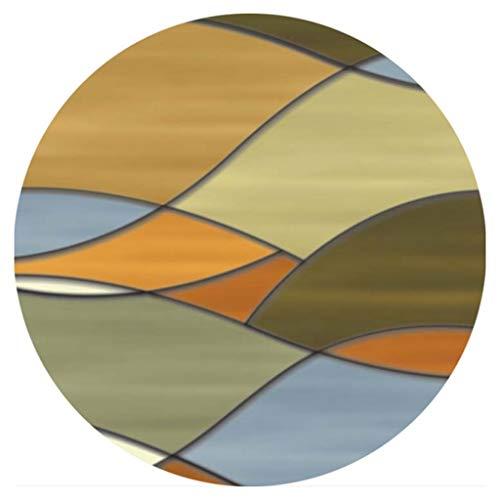 Hausflur, Durchgangsteppich, Round Classic Home Large Area Rug für Wohnzimmer Schlafzimmer Schlafsofa Seitenmatte Keine Milben rutschfeste Kids Crawl Mat Geometrisches Muster Multi Farben Teppich in v -