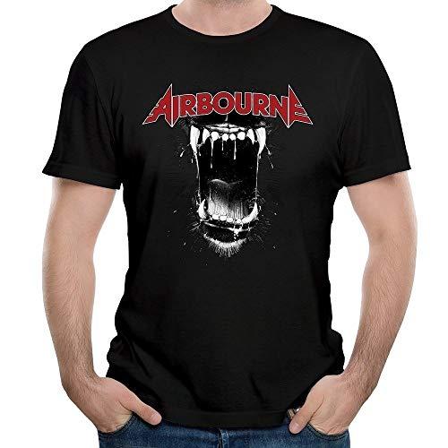 Men's Airbourne Band Black Dog Barking Short Sleeves T Shirt -