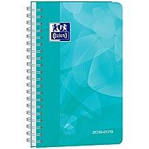 Oxford School Polypro agenda escolar (años 2017–20181día por página 352páginas 12x 18cm turquesa