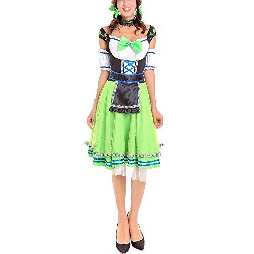 Fiyomet Kostüm Oktoberfest Damen Cosplay Cute Sexy Maid Kostüme Erwachsenen Halloween Spiel Uniform Sets, Kopfbedeckungen, Kragen, Röcke, Ärmel - Cute Maid Kostüm
