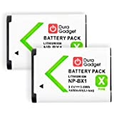 DEUX batteries de rechange pour Sony DSC-HX400, HX400V, H400, HX300, HX50V, HX80, HX90 et HX90V - appareil photo - Li-ion 1000mAH 3.6V 3.6Wh NP-BX1 rechargeable - Garantie 2 ans - DURAGADGET