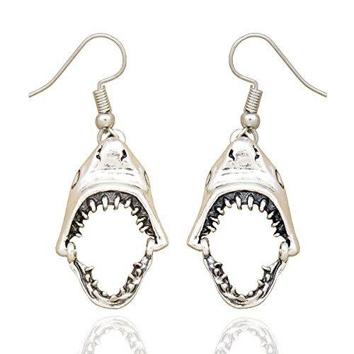 Schmuck Paparazzi Kostüm - RechicGu Ohrringe, Form - geöffnetes Haifischmaul inkl. Zähnen, modischer Ohrschmuck