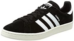 Adidas Men's Campus Trainers, Black (Core Blackfootwear Whitechalk White), 9 Uk