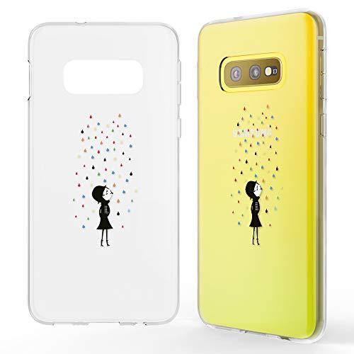 NALIA Hülle kompatibel mit Samsung Galaxy S10e, Motiv Handyhülle Slim Silikon Case Cover Schutzhülle Dünn Durchsichtig, Etui Handy-Tasche Backcover Transparent Bumper, Designs:Colorful Rain