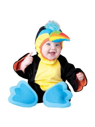 Wunderschönes, buntes Papageien-Kostüm für Babys in Premium-Qualität 86 (12-18 (Für Kinder Papageien Kostüme)