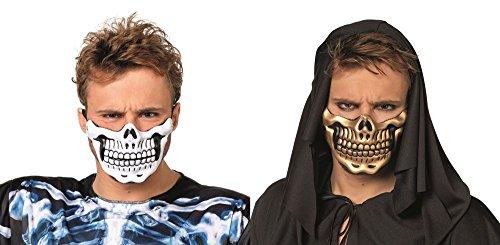 ske Skelett Totenkopf Gebiss Halloween Karneval weiß ()