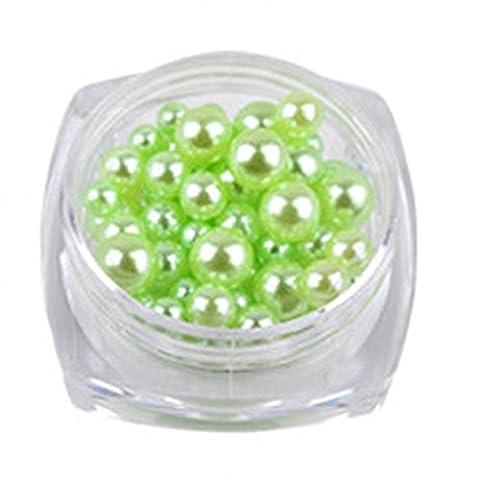 Hunpta 12couleurs Pearl 10g/Box à ongles ongles Paillettes Perles NE SE décolorent pas Perle à ongles
