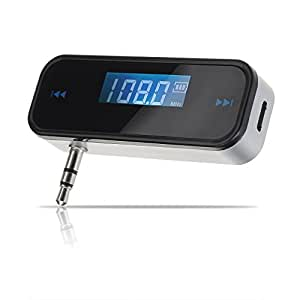 ieGeek® 3,5 In-Car Mains libres de conversation transmetteur FM sans fil pour iPhone 5 4S 4 3G / iPod / Galaxy S S2 S3 S4 / MP3 / Universel