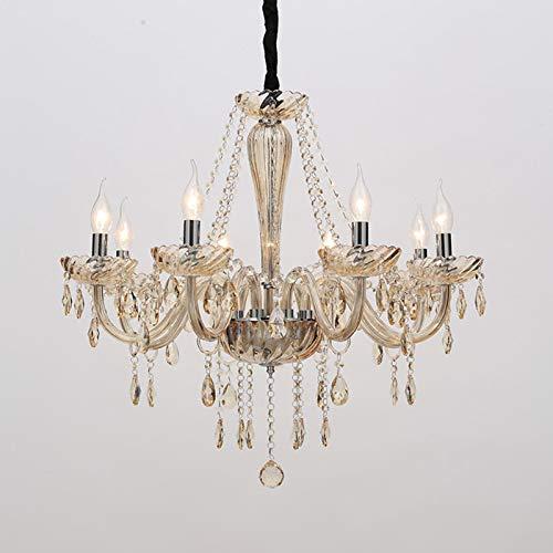Schattierungen Von Licht Kerze (Kronleuchter Licht Schattierungen Decke Schlafzimmer Kristall Licht Kerze Deckenlicht (8 Köpfe))