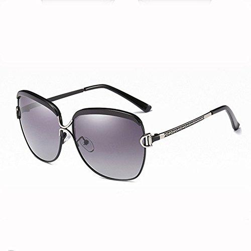 GHCX Modefarbe Filmdamenart Und Weise Polarisierte Sonnenbrilleart Und Weise Groß-gerahmt Sonnenbrilleobjektiv-Geschäftssportfrauen UVschutz,C-OneSize
