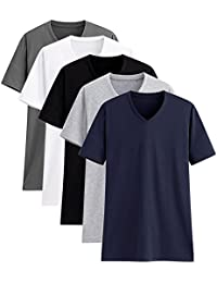 9a70197f116 TAIPOVE Pack of 2 5 Premium 100% Cotton T-Shirt Short Sleeve Tops