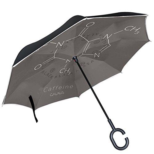 ALAZA Chemie Formel grau seitenverkehrt Regenschirm Double Layer Winddicht Rückseite Regenschirm -