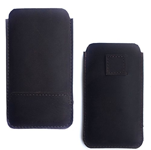 Chalk Factory Premium Genuine Leather Case/Cover with easy pull loop for Samsung P510 Mobile Phone