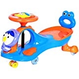 GoodLuck Baybee - Kids Twist And Swing Cartoon Design Magic Car With Music | Push Car Ride On Toy Suitable Kids For 3 To 8 Years - (Blue)