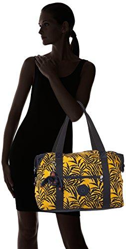 Kipling - ART M - Borsa da viaggio media - Black - (Nero) Multicolore (Corn Bloom)