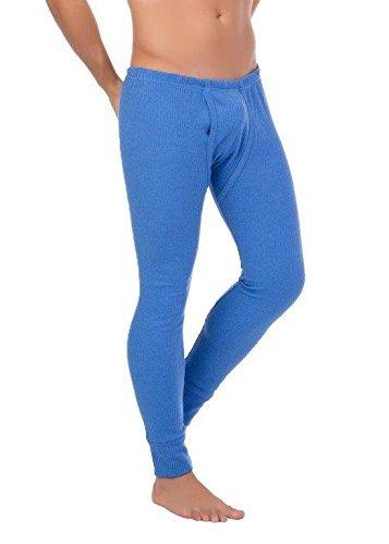 Herren Outdoor-Unterwäsche Lange Thermo-Unterhose angeraut Warme Arbeitsunterwäsche stylenmore (XL, Jeansblau) (Winter Unterhose Lange)
