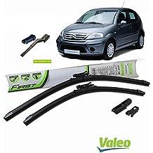 Valeo_group Valeo Juego de 2 escobillas de limpiaparabrisas Especiales para Citroen C3 | 600/450