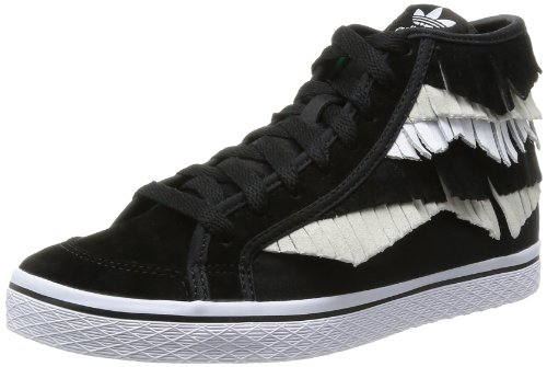 adidas - Honey Mid Fringe W, - Donna Nero/Beige/Bianco