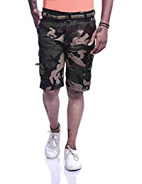 Timbre Men's Army Print Cotton Camouflage Cargo Shorts With 9 Pockets For Men/Boys