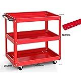Montaggio Strumento Trolley 3 Tier carrelli di Servizio Staccabile Shelf Heavy Duty Garage Laboratorio Strumento armadi portautensili Bagagli della Rotella Fai da Te Spesa