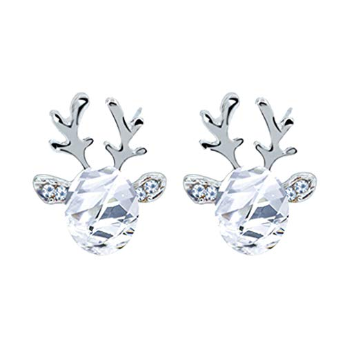Xuthuly Crystal Edelstein Ohrringe dreidimensionale Weihnachten Rentier Printing Ohrringe