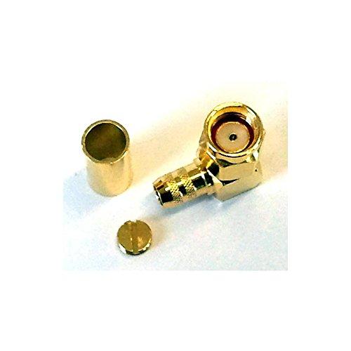 SMA Reverse Polarity & Right Angled Crimp Plug (RG58) -