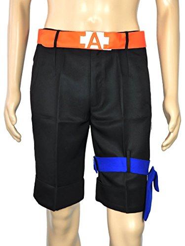 CoolChange pantaloni di Puma D. Ace di One Piece con cintura e borsellino da legare alla gamba. Taglia: XL